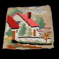 Antique Handmade 1930's Needlework Piece