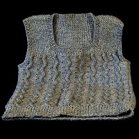 Vintage Hand Knit Gray Childs Sweater Vest