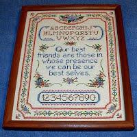 Vintage Framed Needlework, 'Our Best Friends'