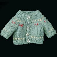 Vintage Doll Sweater, hand knitted