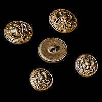 Vintage U. S. Navy Military Eagle and Anchor Uniform Buttons