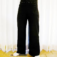 Vintage Antique USN WWII Blue Navy Trousers, 1940-1945