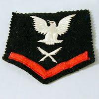 Vintage Antique Ship's Clerk USN Ratings badge, 1940-1945