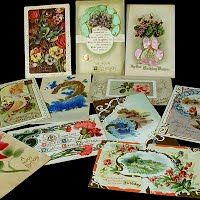Antique, Vintage Happy Birthday Postcards