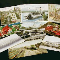 Antique, Vintage Transportation Postcards