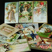 Antique Holiday Post Cards, Christmas, Valentine, Easter