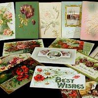 Antique, Vintage Best Wishes Postcards