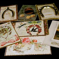 Antique, Vintage Good Luck and Congratulations Postcards