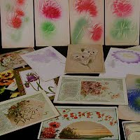 Antique, Vintage Flowers Postcards