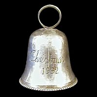 1992 Silverplate Christmas Bell