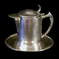 Antique Silverplate Tea Pot, Van Bergh Co 1900's