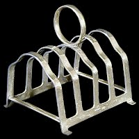 Antique Electroplated Nickel Silver Toast Rack, 1930's