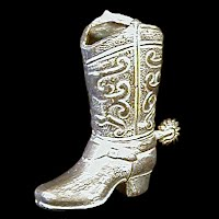 Vintage Tiny Silverplate Cowboy Boot