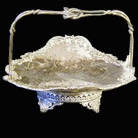 Antique Webster Silver Basket with Pierced work