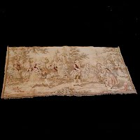 Antique Vintage Flemish Tapestry