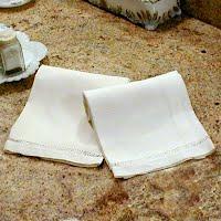 Antique Vintage Linen Hand Towel with cut work border, 1910