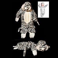 Vintage Childs Halloween Costume, white tiger costume