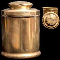 Antique Vintage Brass Humidor La Palina Senators