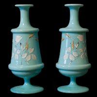 Antique Vintage Bristol Vases
