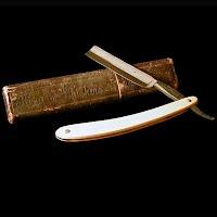 Antique Straight Edge Razor, King of Whiskers Razor in Box, Washington Cultery Co Germany