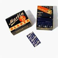 Marlin Razor Blades in box, 1940's