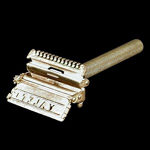 Vintage Gold Wash Autostrop Safety Razor, 1920