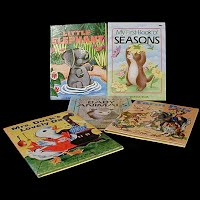 Vintage Children's Books, Little Elephant, Mrs. Duck's Lovely Day, Farm Pets, Baby Animals, Seasons, 1959