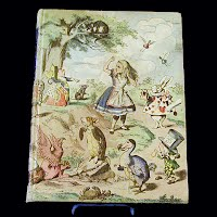 Vintage Book, Alice in Wonderland and Through the Looking Glass, 1946