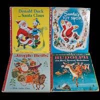 Vintage Childrens Christmas Santa Books