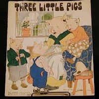 Antique Three Little Pigs Book #3100-H, 1932 Platt and Munk Co.