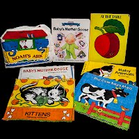 Vintage Books for Babies, cloth and plastic