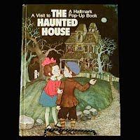 Vintage Children's Halloween Book, A Visit to The Haunted House pop-up, Hallmark Children's Edition,
