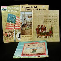 Vintage Educational Books (4): The American Revolution (1963), Household Tools & Tasks (1992), The Story of the Declaration of Independence (1968), The Story of the Liberty Bell (1966)