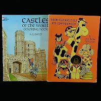 Vintage Educational Books (2): Castles of the World Coloring Book (1986), Throw Your Whole Self into Comprehension (1977)