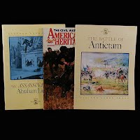 Vintage Educational Books (3): The Assassination of Abraham Lincoln (1965), American Heritage, The Civial War (1990), The Battle of Antietam (1962)
