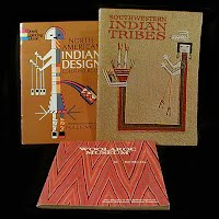 Vintage Educational Books (2): North American Indian Design Coloring Book (1971), Southwestern Indian Tribes (1992), Woolaroc Museum (1965)