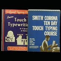 Vintage Educational Books (2): Learn Touch Typewriting in 4 Hours (1945), Smith Corona Ten Day Touch Typing Course (1956)