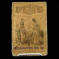 Antique Book 1871, Beadle's Dime, Dialoques No. 10