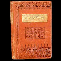 Antique Book, Oliver Twist, 1884