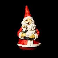 Vintage Christmas Red Roly Poly Santa, artist Jaimy
