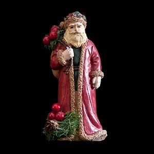 vintage red Christmas santa figurine with sack