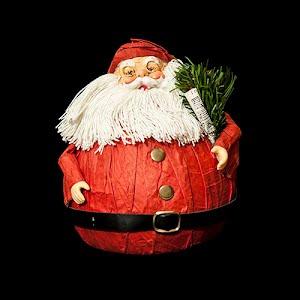 Vintage Christmas Santa Paper Suit and string Beard ornament
