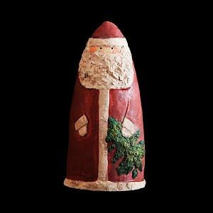 Vintage Christmas Folk Art Santa Figurine