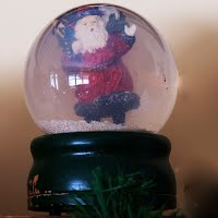 Vintage Santa Snow Globe with Music Box, You Better Watch Out