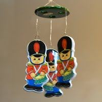 Vintage Soldier Wind Chimes or Mobile, Rus Berrie