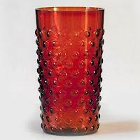 Antique Cranberry Hobnail Glass
