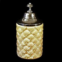 Antique EAPG Yellow Cased Cone Pickle Castor Insert, 1900's