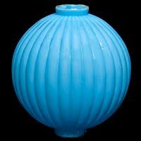 Antique Blue Milk Glass Lightning Ball