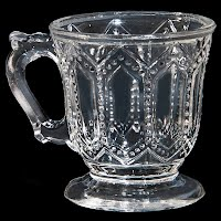 Antique EAPG Beaded Arch Pannels Mug or Cup