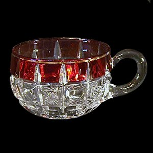 Antique EAPG Verona Ruby Stained Punch Cup